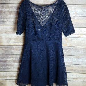 David's Bridal Short Lace Dress Size 14